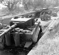 German Tiger tanks- 56 ton roadblocks in Italy....