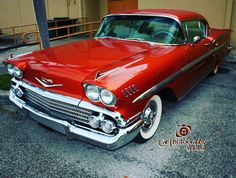 The year 1958 was the first year of the Impala. It started out as a model package for the Bel Air but was more impressive. It came in two different body styles a convertible and a sport coupe. It had Impala script insignia and crossed flag emblems on the front of the hood ribbed body sill panels large chrome air scoops ahead of rear wheels on the fenders a competition style deep two spoke steering wheel with Impala medallions and Impala script on the dash.#58chevyimpala #58impala #58chevy…