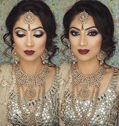 Pakistani Bridal Makeup Make Up Jewellery Ideas Asian Bridal Makeup, Indian Wedding Makeup, Bridal Hair And Makeup, Wedding Hair And Makeup, Hair Makeup, Indian Makeup Looks, Hair Wedding, Eye Makeup, Pakistani Bridal Makeup