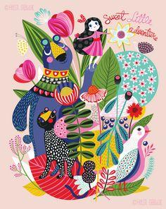 Adventure Sprouts...  limited edition giclee print por helendardik