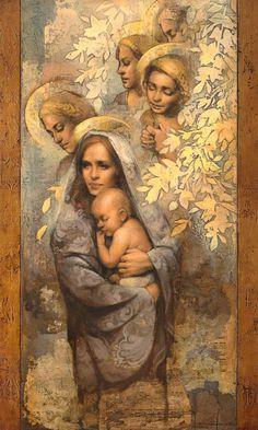 Gospel Art | Mother's Lullaby by Annie Henrie Nader giclee canvas | Cornerstone Art