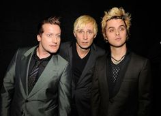 Tré Cool, Mike Dirnt and Billie Joe Armstrong of Green Day backstage at the 51st Annual Grammy Awards held at the Staples Center on February 8th, 2009 in Los Angeles.