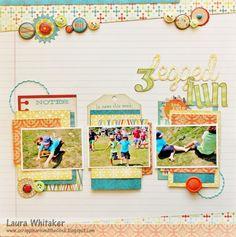3 legged fun - Scrapbook.com - Layout Idea