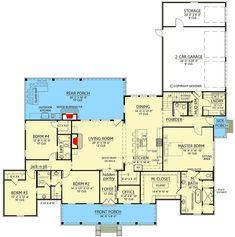 Exclusive Farmhouse Plan with Luxurious Master Suite - 56458SM   Architectural Designs - House Plans