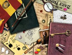 Harry Potter Desk Wallpaper by *eMelody on deviantART