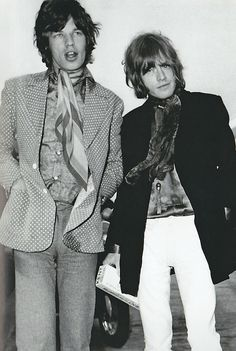 Mick Jagger and Brian Jones
