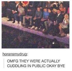 More cuddling in public please?