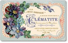 Vintage French Labels | Item 1805 Vintage French Perfume Plaque
