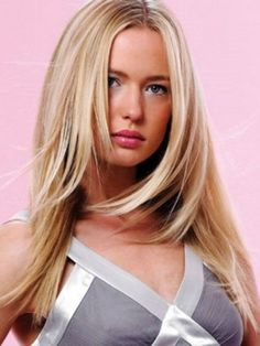 women hairstyles Part hair in the middle and cut the bangs till chin-length. Go for light layers by cutting some more till the collar bones.