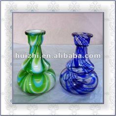 blown glass hookah bottle