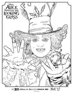 Adult Disney Drawing Alice In Wonderland Coloring Pages Printable