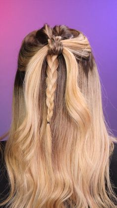 Easy Hairstyles For Long Hair, Hairstyles For School, Girl Hairstyles, Reign Hairstyles, Cute Bun Hairstyles, Pretty Braided Hairstyles, Medium Hair Styles, Curly Hair Styles, Athletic Hairstyles
