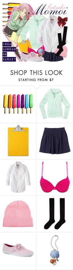 """""""[Kuroko no Basket] Momoi Satsuki"""" by animangacouture ❤ liked on Polyvore featuring Juicy Couture, Monki, Jack Wills, Charlotte Russe, ASOS, Uniqlo, Keds, Bandai, anime and CasualCosplay"""
