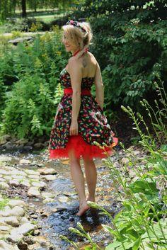 Pin-up šaty cherry Pin Up, Rockabilly, High Low, Dresses, Fashion, Vestidos, Moda, Fashion Styles, Dress