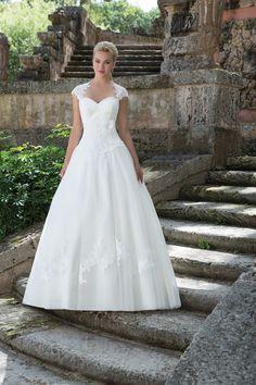 Queen Anne neckline ball gown - Sincerity Bridal Spring 2016 Wedding Dresses | itakeyou.co.uk #weddingdress