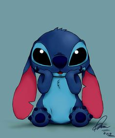 Stitch by nisazzz on DeviantArt Sting… Cartoon Wallpaper Iphone, Disney Phone Wallpaper, Cute Cartoon Wallpapers, Cute Wallpaper Backgrounds, Pretty Wallpapers, Iphone Wallpapers, Disney Stitch, Lilo Stitch, Cute Disney Drawings