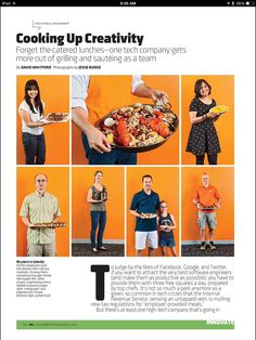 (Your earnest foodie webmaster works here and made that paella for his pals/SMEs...) @actifio food culture covered in a piece in the new @Inc . Great story, about what's become a great tradition here.