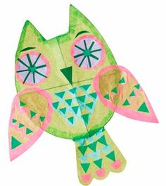 Make your own owl kite from @MadeForMums (UK blog)