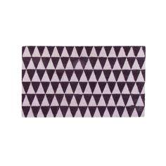 "Decorative Black and Pale Pink Triangle Print Coir Outdoor Rectangular Door Mat 29.5"" x 17.75"", Outdoor Décor"