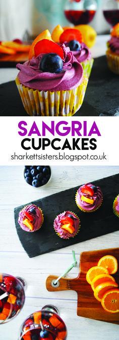 Sangria Cupcakes! http://sharkettsisters.blogspot.co.uk/2016/07/cocktail-cupcakes-sangria.html