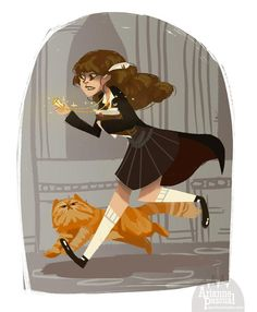 Hermione Granger by Arianne Pascual for @Sketch_Dailies