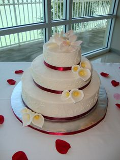 Cala Lilly & Orchid wedding Cake