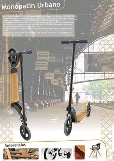 Monopatín diseñado para el transporte de adultos, y el transporte del mismo en diferentes medios de transporte que se encuentran en la ciudad.