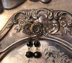 Star and Moon Victorian Button Earrings  Cut von TheGildedGypsies