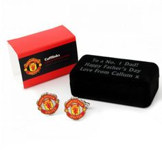 Personalised Football Cufflinks Manchester United Football Cufflinks Manchester United ? Personalise this cufflink case with any message over 3 lines up to 20 characters per line for the ideal football fan present. Perfect gift for the occasion of Bi http://www.comparestoreprices.co.uk/cufflinks/personalised-football-cufflinks-manchester-united.asp