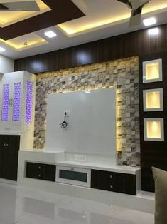Most current and alluring TV wall designs. Living room tv Rugs - PDB Trending unit design 2018 Most current and alluring TV wall designs. Living Room Wall Units, Living Room Tv Unit Designs, Tv Wall Unit Designs, Living Rooms, Tv Unit Decor, Tv Wall Decor, Wall Tv, Decor Room, Living Room Decor