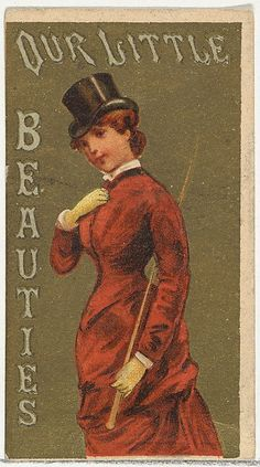 From the Girls and Children series (N58) promoting Our Little Beauties Cigarettes for Allen & Ginter brand tobacco products, 1887. The Metropolitan Museum of Art, New York.The Jefferson R. Burdick Collection, Gift of Jefferson R. Burdick (63.350.202.58.14)