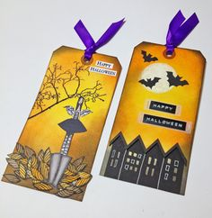 Two Halloween tags by Elina using 3rd Eye products <3 http://3rdEyeCraft.com