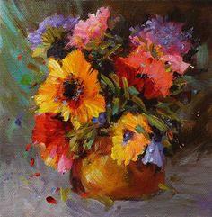 "Daily Paintworks - ""Original floral flower bouquet painting"" - Original Fine Art for Sale - © Alice Harpel"