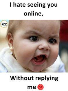 Funny Baby Jokes, Funny Chat, Funny Cartoon Memes, Funny Memes Images, Latest Funny Jokes, Baby Memes, Funny Girl Quotes, Very Funny Jokes, Really Funny Memes