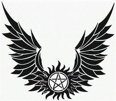 Supernatural Angel Wings vinyl decal
