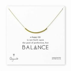 Balance Tube Necklace – Gold by Dogeared Jewels and Gifts | Necklaces Gifts | chapters.indigo.ca