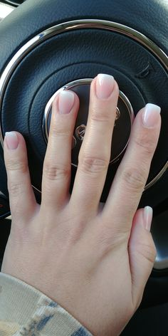 Nail Color Ombre French manicure Go french? I havent decided. Jus cleaned off the last polish. Thkful for naturally rounded nails. Runs in the family apparently. Colleague was saying my nails are pretty. Hee i didnt file them. They round naturally ; Manicure French, Manicure And Pedicure, Manicure Ideas, Gel Nails French Tip, Nail Ideas, Makeup Ideas, French Manicure With Design, Nail French, French Pedicure