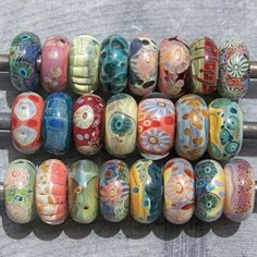 large holed lampwork beads.  WONDERFUL