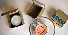 Sind diese Teelichter nicht süß!?!!? Wenn man auspackt, sehen sie ganz normal aus, aber nach einer Weile, wenn das Wachs flüssig ist, ...