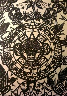 Image result for skull paper cut out