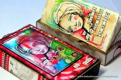 artist dina wakley | Rubber stamps: All the Gals by Dina Wakley