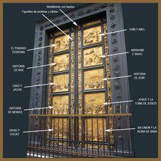 La obra que vamos a analizar a continuación es la Puerta este del Baptisterio de la Catedral de Florencia, también conocida como la Puerta ...
