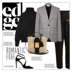 """""""Romantic edge"""" by frenchfriesblackmg ❤ liked on Polyvore featuring The Row, TIBI, Monse, Mark Cross and Jimmy Choo"""