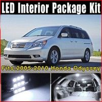 Wish | 15 x Xenon White LED Lights Interior Package Kit for 2005-2010 Honda Odyssey