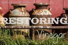 Use vinegar to bring life back to old items! #cleaning