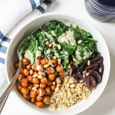 Chickpeas are in so many of my recipes that I should probably devote an entire section to them in my recipe archives. I think it's safe to say I have them almost every week, whether its in a curry dish, thrown onto a salad, or baking them for this roasted chickpea quinoa bowl. They're an...