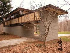Louis Penfield House. 1955. Willoughby Hills, Ohio. Usonian Style. Frank Lloyd Wright.