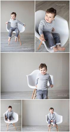 Modern White Chair Kansas City Childrens Photographer