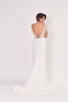 ALAIA - Mira Mandic | bridal couture gown backless wedding dress