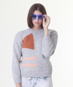 Nanushka - Geometric Intarsia Sweater | available at Lust Covet Desire